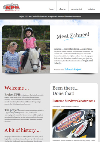 Project KPH website by Dabhand.co.nz