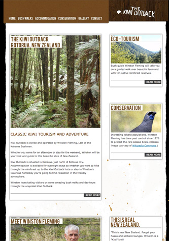 Kiwi Outback website by Dabhand.co.nz